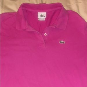 Women's Lacoste Size 44 Long-Sleeve Polo